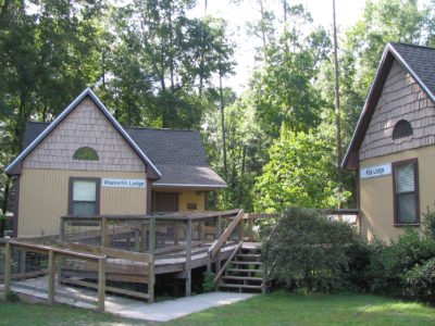 Two cabins at Camp Suwannee