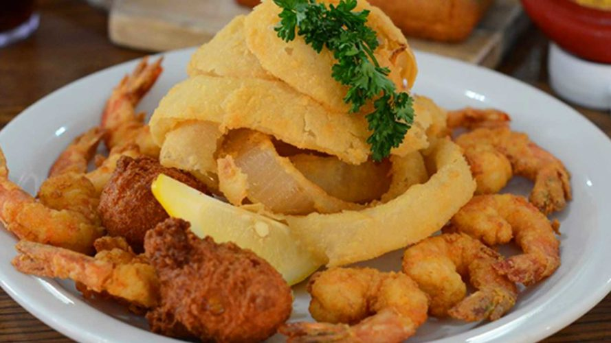fried seafood platter at dixie grill in live oak florida