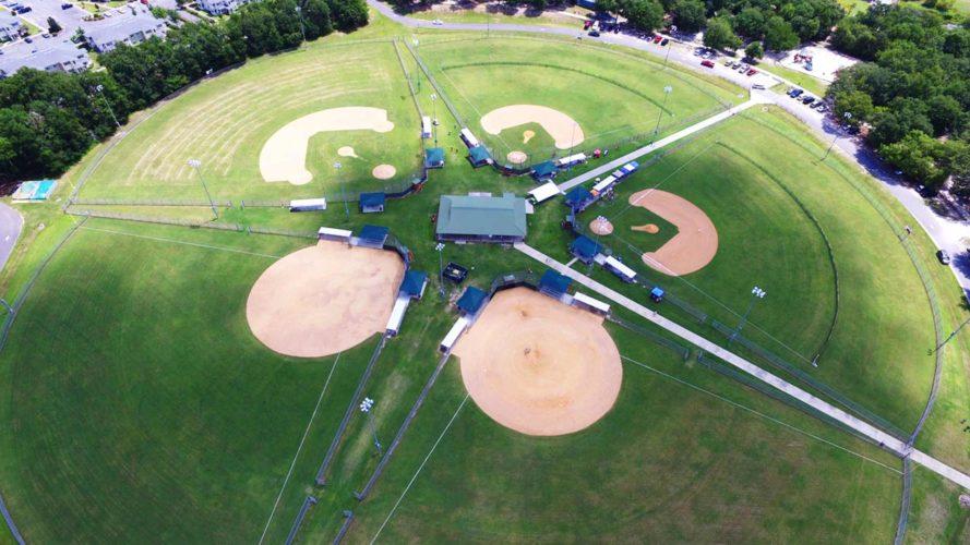 aerial view of the first federal sportsplex in live oak florida