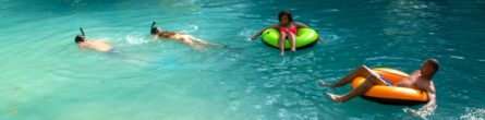 people tubing and snorkeling in live oak florida springs