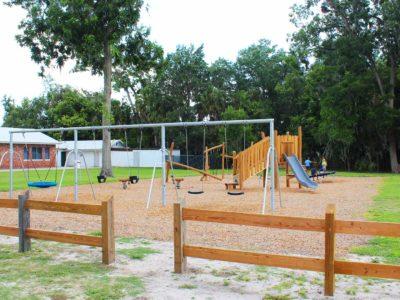 family picnic at john h. hale park in live oak florida