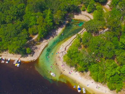 An aerial view of Little River Springs