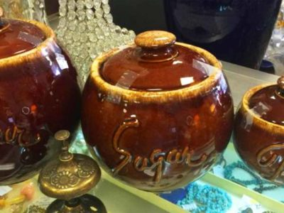 vintage pottery at live oak antique mall