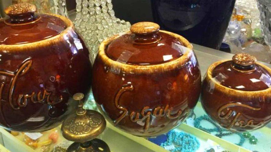 vintage pottery at live oak antique mall