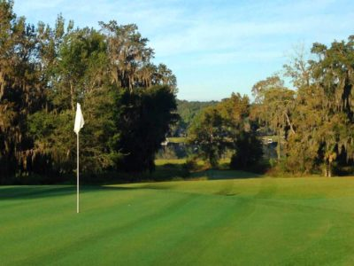 golf ball on tee at suwannee country club