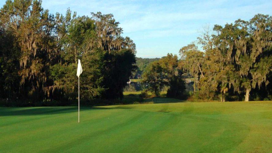 golf ball on tee at suwannee country club