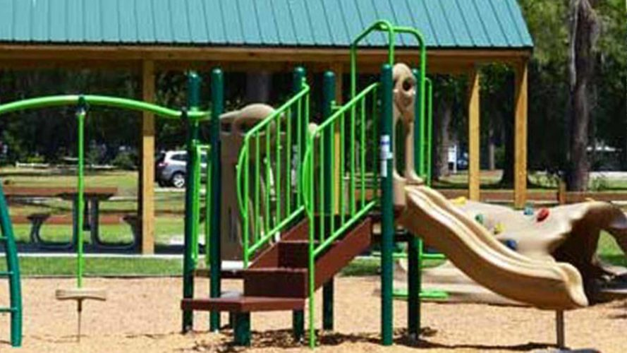 playground in women's club freedom park in live oak florida