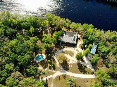 An aerial view of Suwannee River Cove Campground
